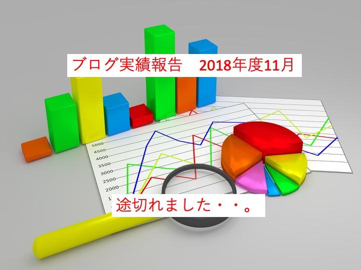 【11月度報告】ブログを始めて10ヶ月、経過報告します。