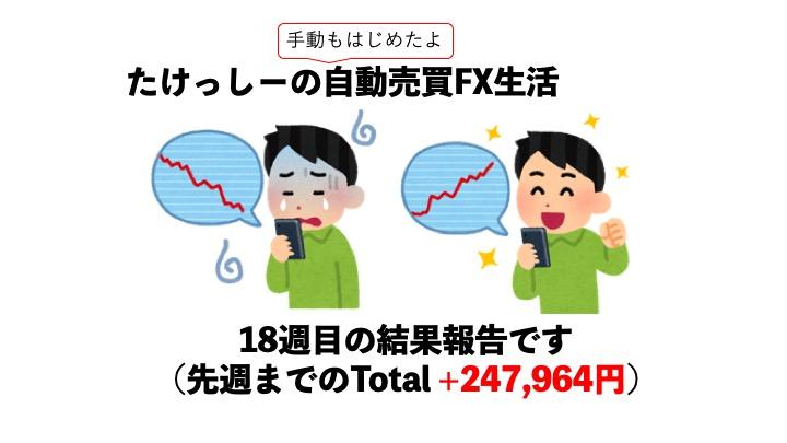 【FX】ツール自動売買FX18週目、実績はいかに?